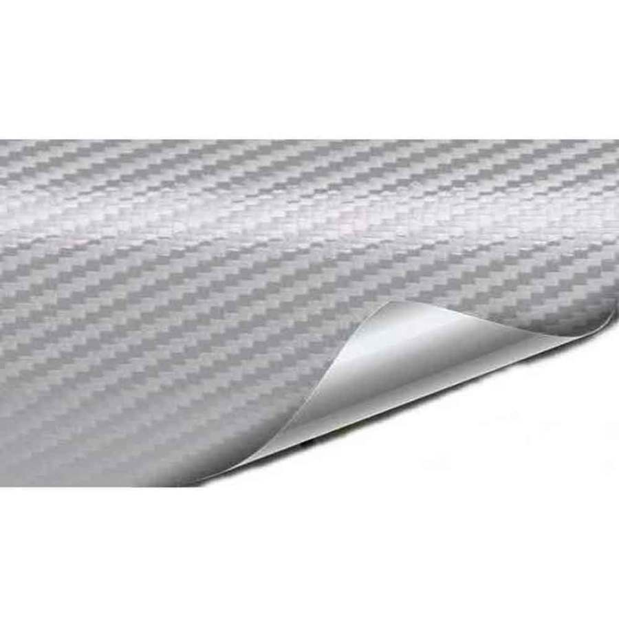 bDonix Carbon Fiber Sheet For Laptop 2 Laptop Back Protector Carbon Fiber Silver Texture