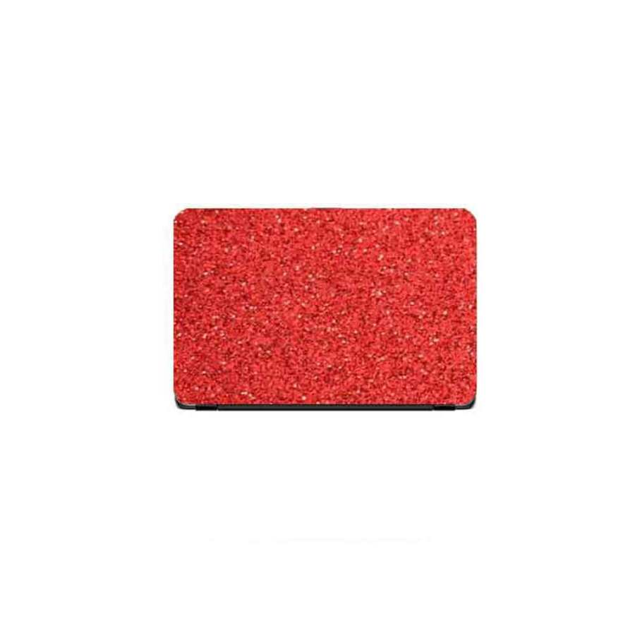 Laptop Back Stickers Glitter Red Texture