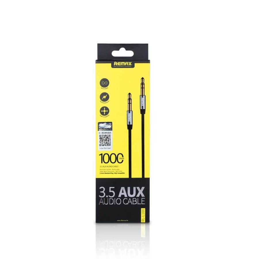 bDonix Remax 3.5mm Aux Cable L100 3 Remax RL-L100 3.5mm AUX Audio Cable male to male 1 Meter AUX Cable