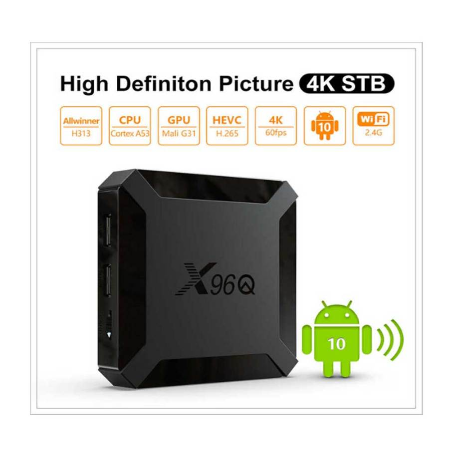 bDonix Smart Box X96Q Mini Quad Core 2GB16GB 4K 60FPS Android 10V 5 Smart Box X96Q Mini Quad Core 2GB+16GB 4K 60FPS Android 10V