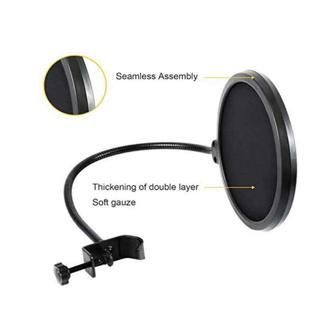 bdonix Pop Filter For Microphone 2 Pop Filter For Any Microphone With Flexible 360 Clip Stabilizing Arm