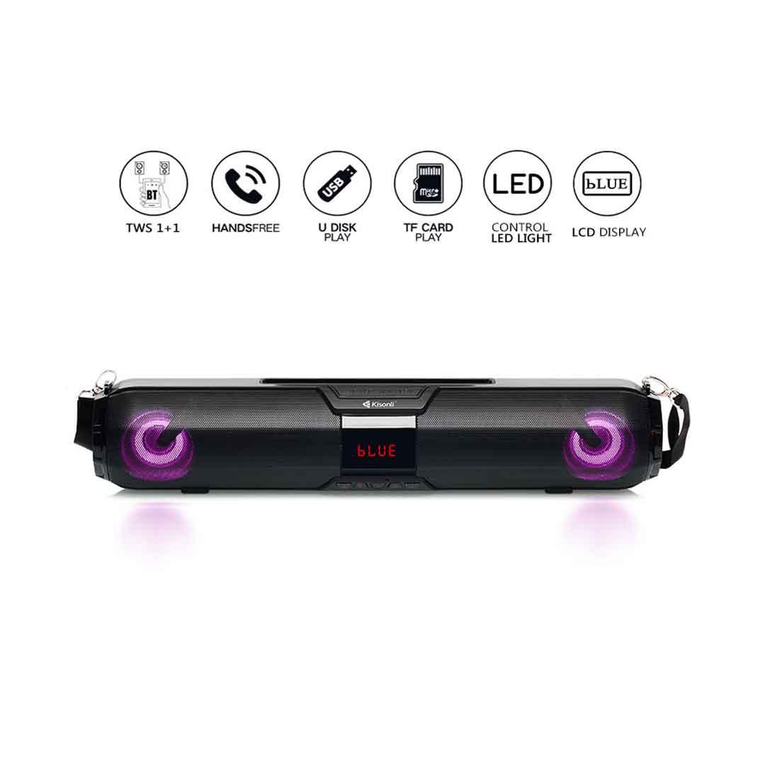 Kisonli LED 900 Speaker With Bluetooth Soundbar bDonix 3 Kisonli LED-900 Bluetooth Speaker TWS Soundbar
