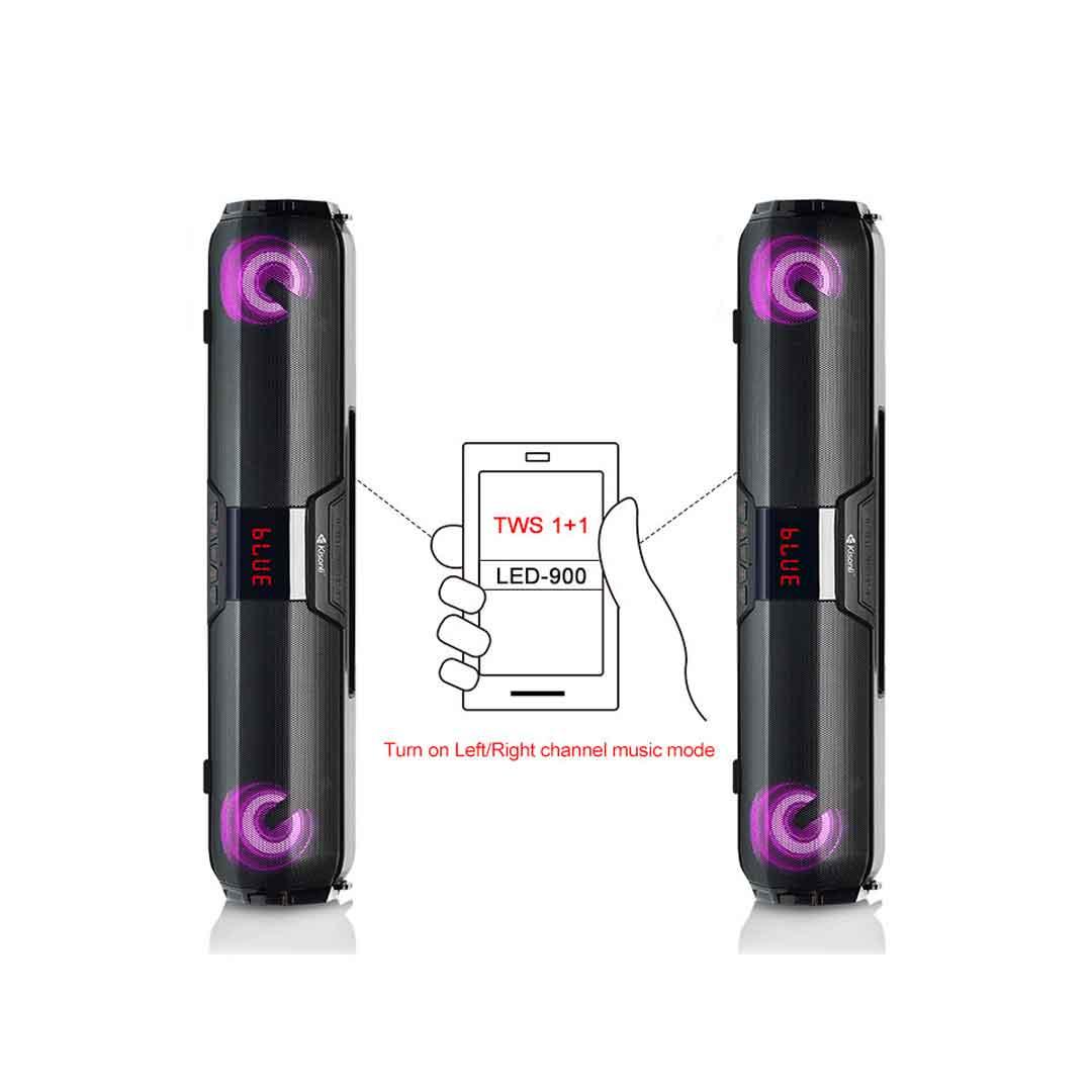 Kisonli LED 900 Speaker With Bluetooth Soundbar bDonix 4 Kisonli LED-900 Bluetooth Speaker TWS Soundbar