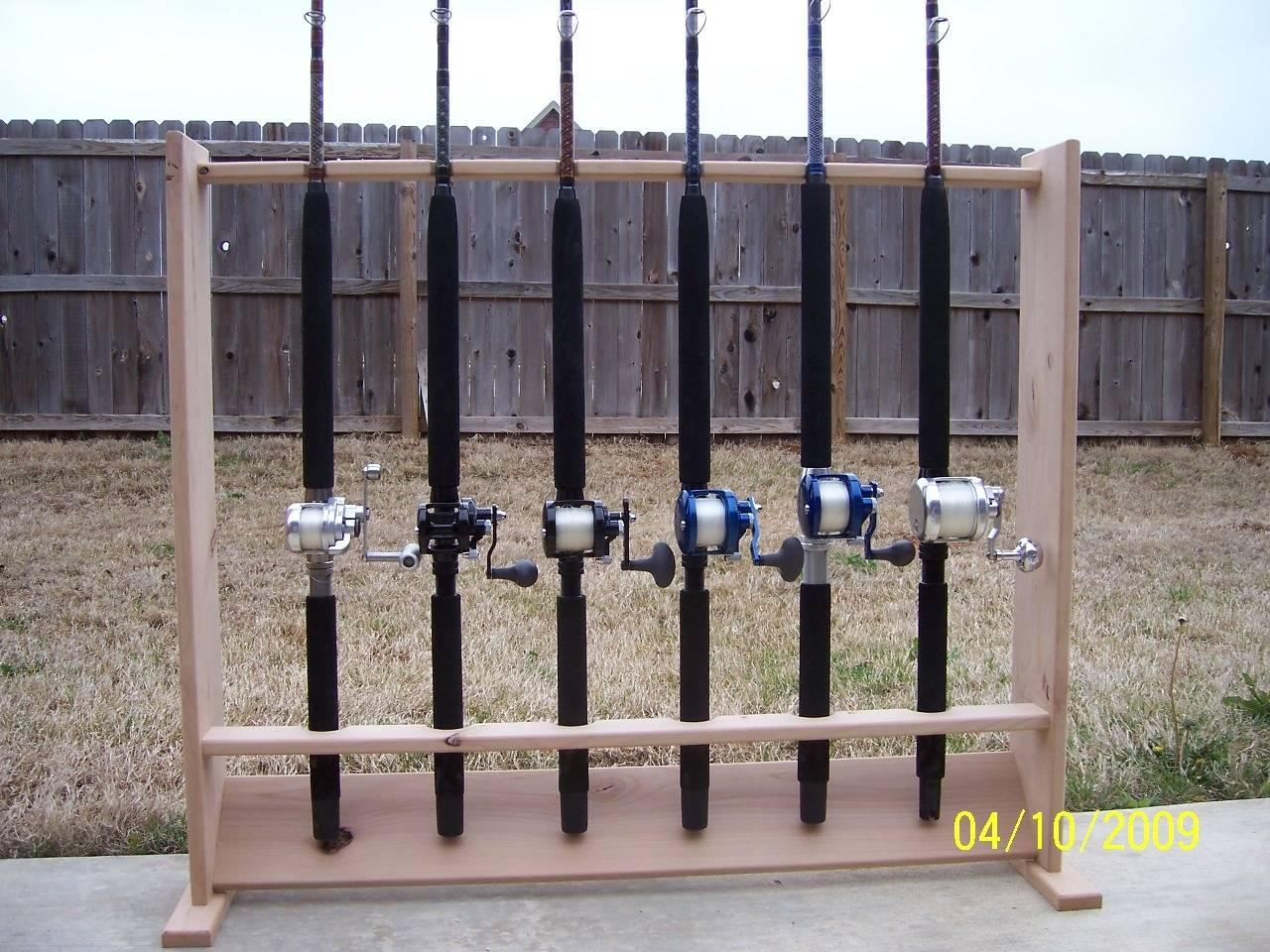 wooden rod rack plan