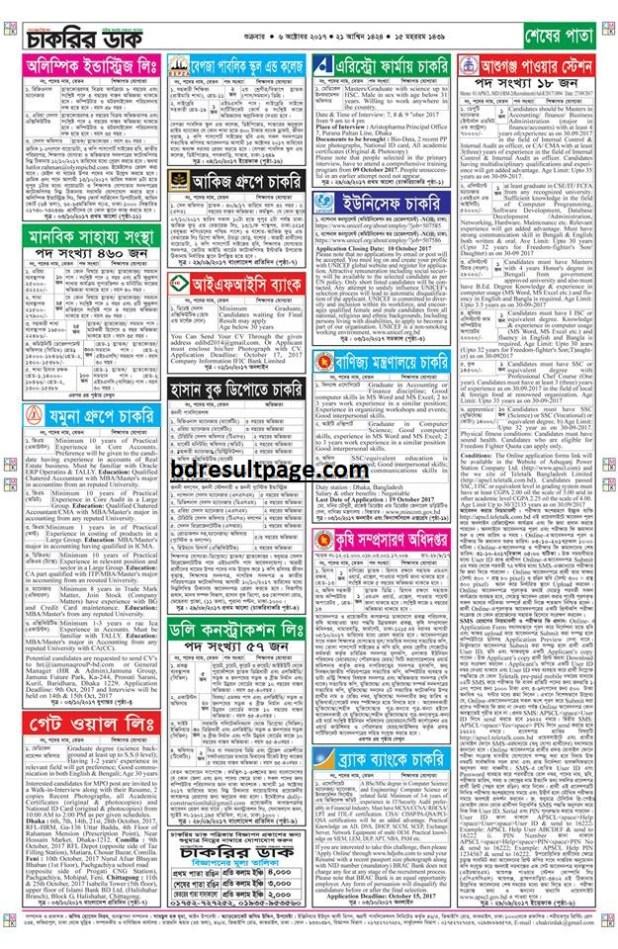 Weekly Job Newspaper 6th October 2017