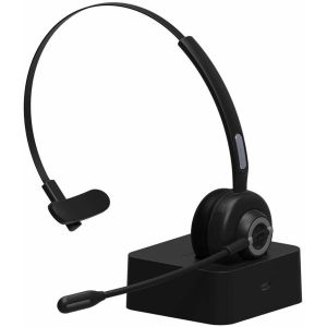 Casti audio BT 5.0 Call Center WHBM97D + Stand incarcare