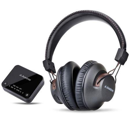 Set casti + adaptor transmitator audio Avantree HT4189