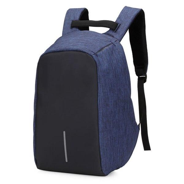 "Rucsac antifurt maxim 15.6"", port USB extern de incarcare telefon, albastru"