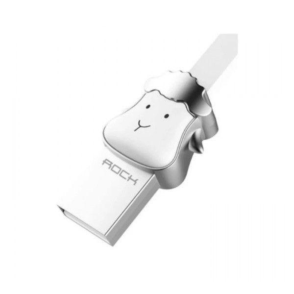 Cablu Micro USB Rockspace, Zodiac chinezesc, Oaie, Alb