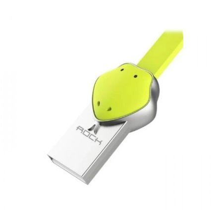 Cablu Micro USB Rockspace, Zodiac chinezesc, Sarpe, Verde