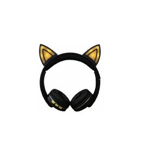 Casti bluetooth cat galben