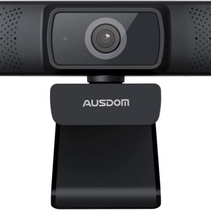 Camera web Ausdom, HD1080P Full HD, Auto focus, microfon, Negru