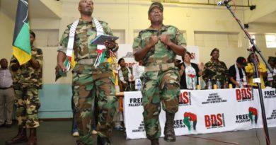 Veranstaltung mit der PFLP Terroristin Leila Khaled. Foto BDS Südafrika / Facebook