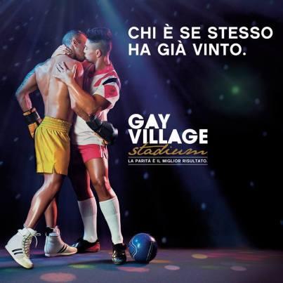 Una pubblicità del GayVillage