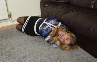 Carissa Montgomery Gets Hogtied, Gagged and Punished
