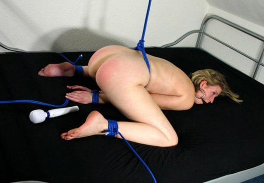 Helpless Housewife Gagged and Humiliated in Bedroom