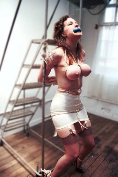 Amateur Vintage Model Bound and Gagged in Retro Lingerie