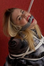 Curvy Blond Secretary Bound, Scarf Gagged and Degraded in Office