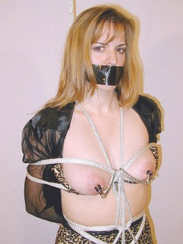 Young Blond Model Gets Bound, Tape Gagged and Stripped for Punishment