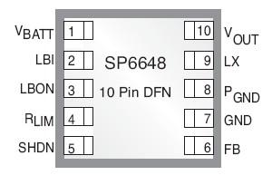 SP6648 单/双极 Alkaline电池,高效放大直流到直流(DC-DC)调节器_BDTIC代理SP6648