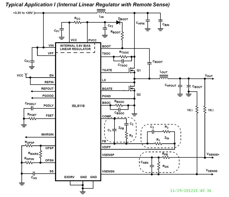 ISL8118: 3.3V to 20V Single-Phase PWM Controller with