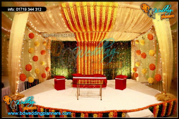 Holud Stage Decor Bd Event Management Wedding Planners