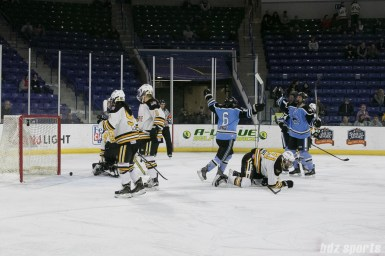 Beauts Emily Janiga scores the second goal of the game