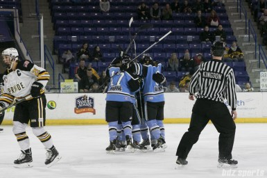 Beauts celebration for their second goal of the game