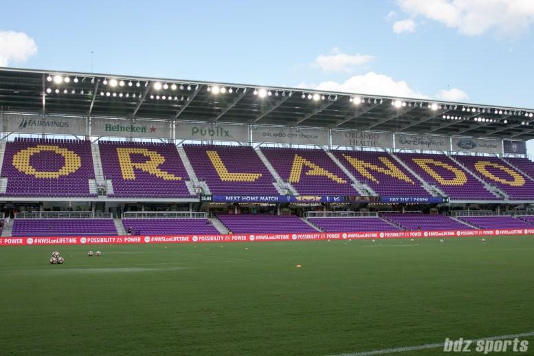 Orlando City Soccer Stadium before the start of the Orlando Pride vs FC Kansas City match.