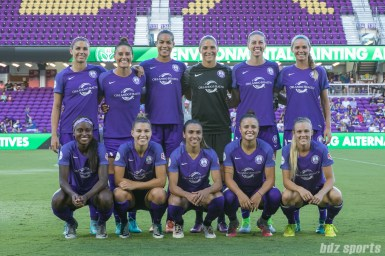 The Orlando Pride starting XI.