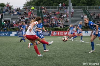 Chicago Red Stars forward Sofia Huerta (11) sends in the ball.