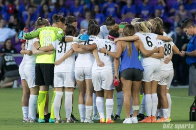 The FC Kansas City huddle before the start of the game.