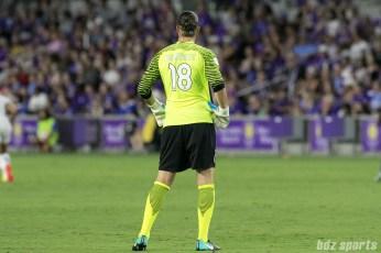 FC Kansas City goalkeeper Nicole Barnhart (18) looks on during the game.