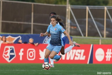 Sky Blue FC midfielder Daphne Corboz (10)