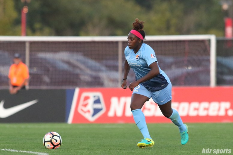 Sky Blue FC defender Mandy Freeman (22)