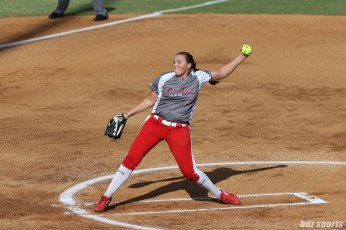 Scrap Yard Dawgs pitcher Cheridan Hawkins (77)