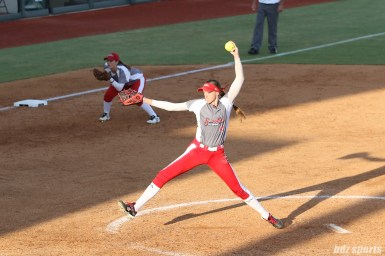 Scrap Yard Dawgs pitcher Monica Abbott (14)