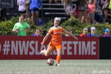 Houston Dash defender Janine van Wyk (55)