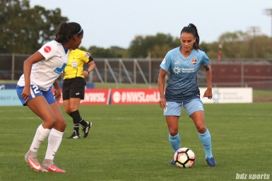 Sky Blue FC midfielder Sarah Killion (16)