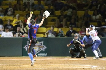 Chicago Bandits pitcher Danielle O'Toole (8) pitches for the Bandits