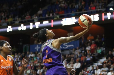Phoenix Mercury guard Yvonne Turner (6) goes for the lay up