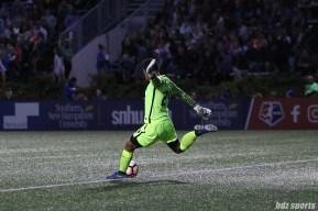 Portland Thorns FC goalkeeper Adrianna Franch (24) takes a goal kick