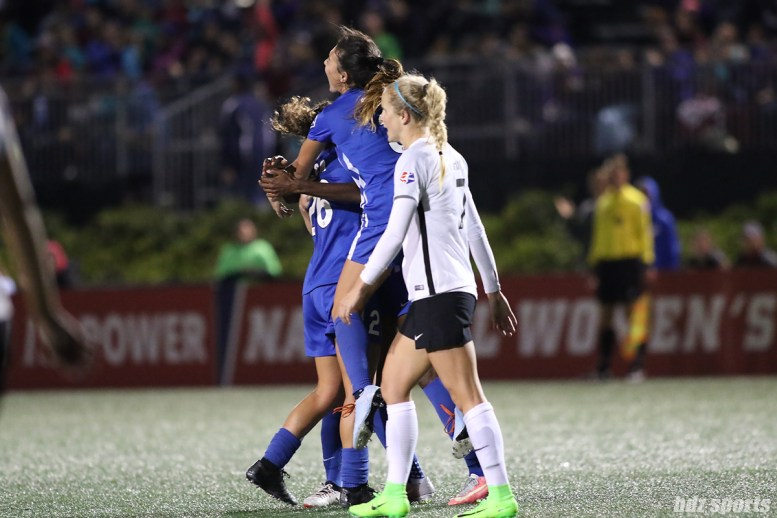 The Breakers celebrate forward Ifeoma Onumonu's first professional goal