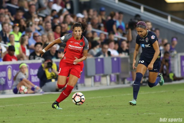 Portland Thorns FC forward Nadia Nadim (9)