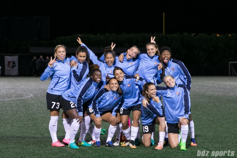 The Sky Blue FC had a little fun with their starting XI picture in their last game of the 2017 NWSL season
