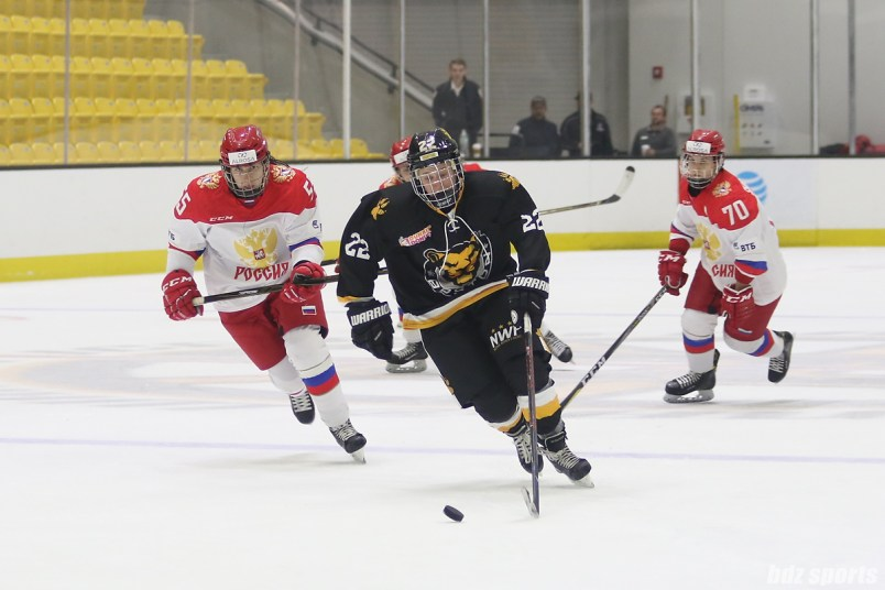 Boston Pride forward Haley Skarupa (22) makes a break away towards goal