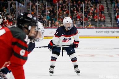 Team USA defender Monique Lamoureux-Morando (7)