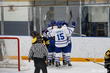 Toronto Furies celebrating forward Emily Fulton's (17) goal