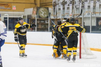 The Boston Blades after defeating the Toronto Furies 4 - 2 at home and picking up their first win of the season