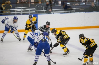 Toronto Furies forward Alexa Aramburu (16) faces off against Boston Blades forward Courtney Turner (3)